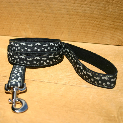 Hemp/organic cotton lead Black 25mm