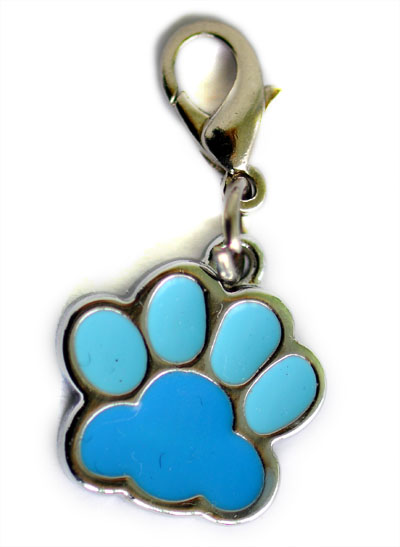 Blue pawprint charm