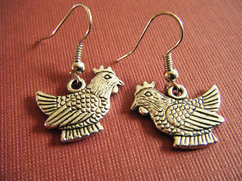 Chook Chicken earrings
