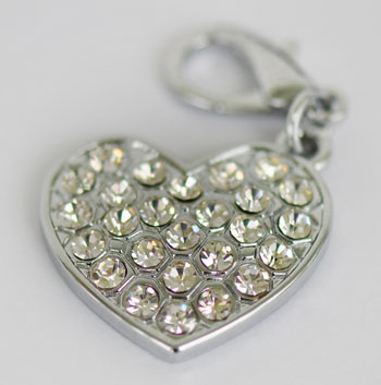 Czech crystals heart pet pendant