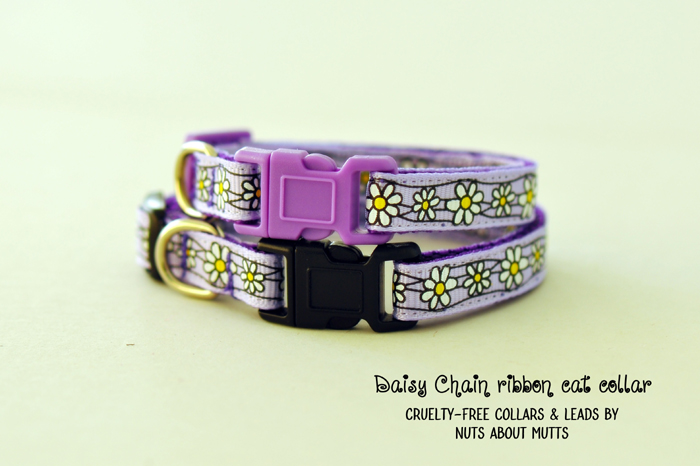 Daisy Chain cat collar Lavender FREE SHIPPING!