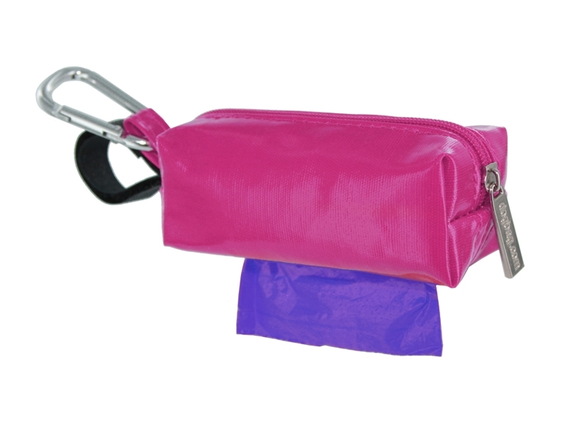 Dog waste bags, dog poo bags plain hot pink