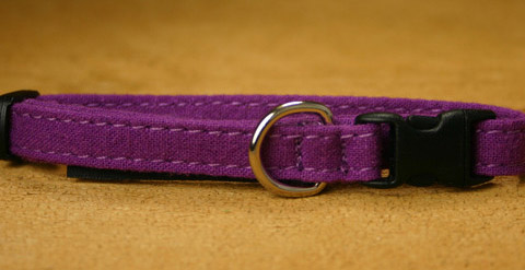 Hemp Cat collar (Plum)