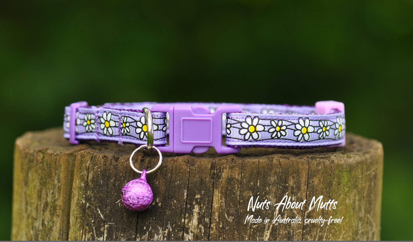Daisy Chain cat collar Lavender