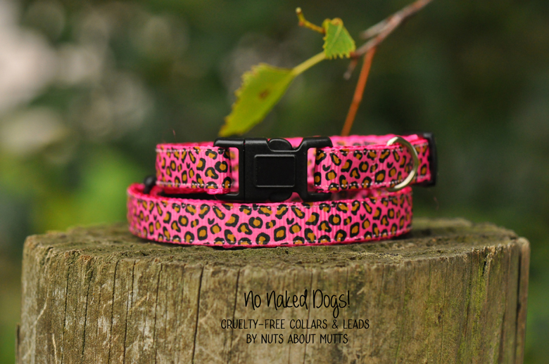 Pink Leopard cat collar FREE SHIPPING!