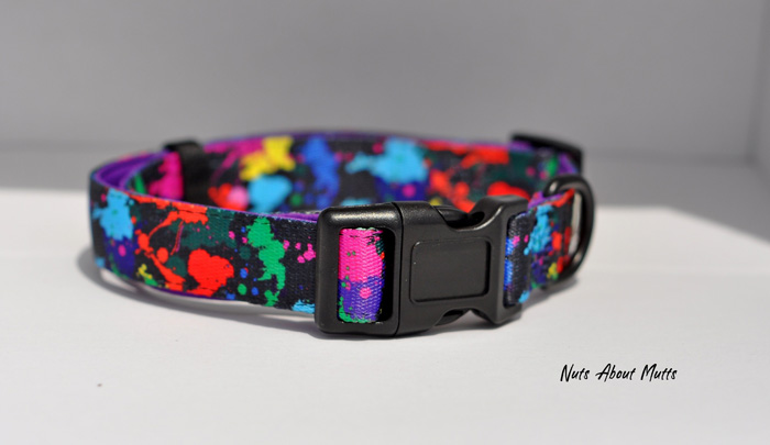Paint Splash Splatter Street art dog collar