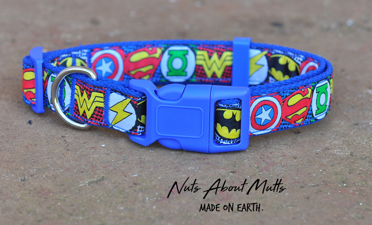 Super Heroes cat collar 3 sizes FREE SHIPPING!