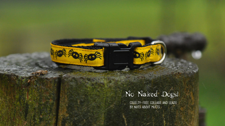 Yellow Spiders cat collar FREE SHIPPING!
